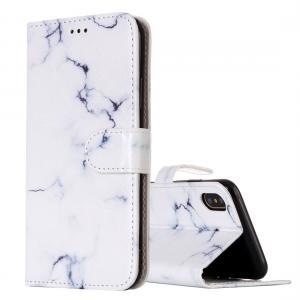 Plånboksfodral för iPhone X / XS - Vit marmor