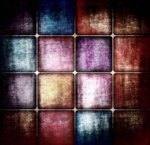 Vinylbakgrund 1.5x2.2m - Färgade kvadrater