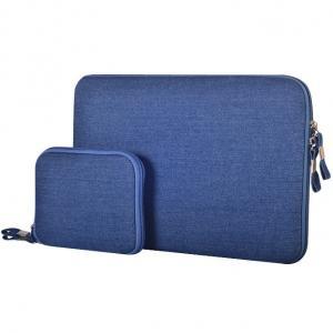 Laptopväska + liten väska - Jeans blå