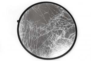 Reflexskärm Silver & Vit