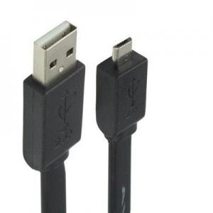 USB-kabel 2.0 till Micro USB 1.5 meter Platt kabel