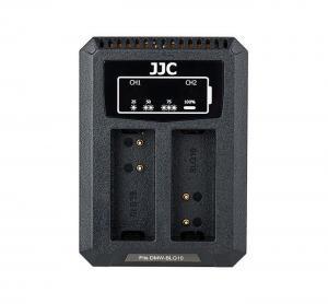 JJC USB-driven dubbel batteriladdare för Panasonic DMW-BLG10/BLE9 Leica BP-DC15