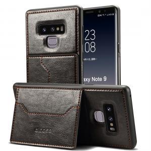 Dibase för Galaxy Note 9 - Skal med kortplats för PU-läder