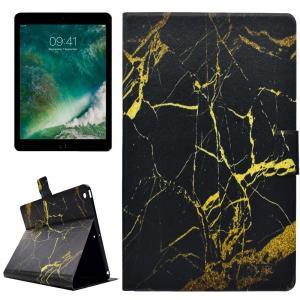 Fodral för iPad 9.7 - Marmomönster guld & svart