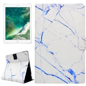 Fodral för iPad Pro 10.5-tum - Marmor vit & blå