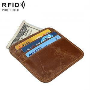 Brun plånbok i äkta läder med RFID skydd