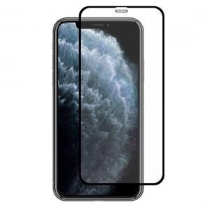 Displayskydd med svart ram för iPhone 11 Pro / X / XS av härdat glas