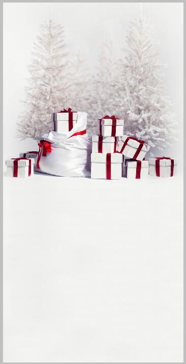 Vinylbakgrund 1.5x3.0m - Granar med julklappar