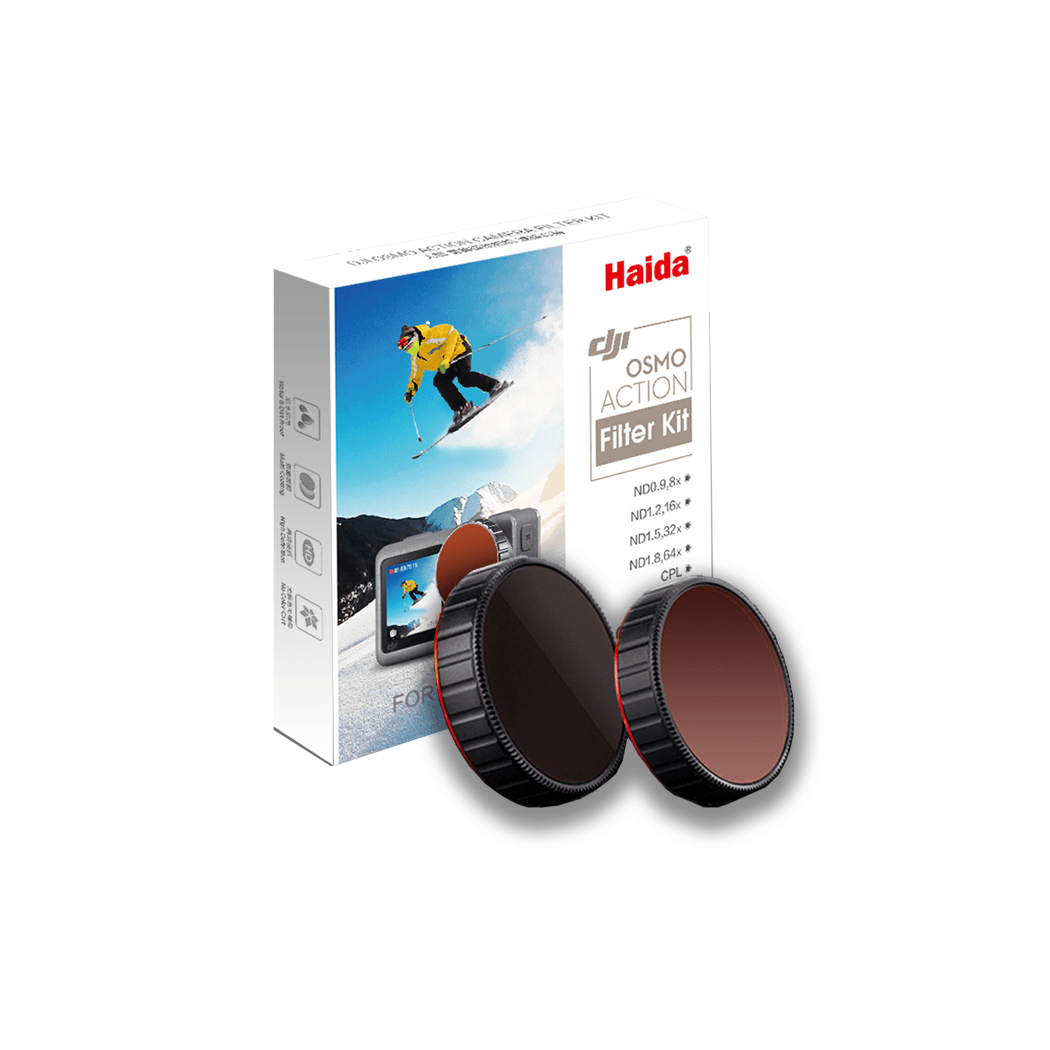 Haida ND/CPL-Filterkit 5 i 1 för Osmo Action: ND8 ND16 ND32 ND64 CPL