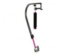 Commlite Handhållen kamerastabilisator (Rosa)