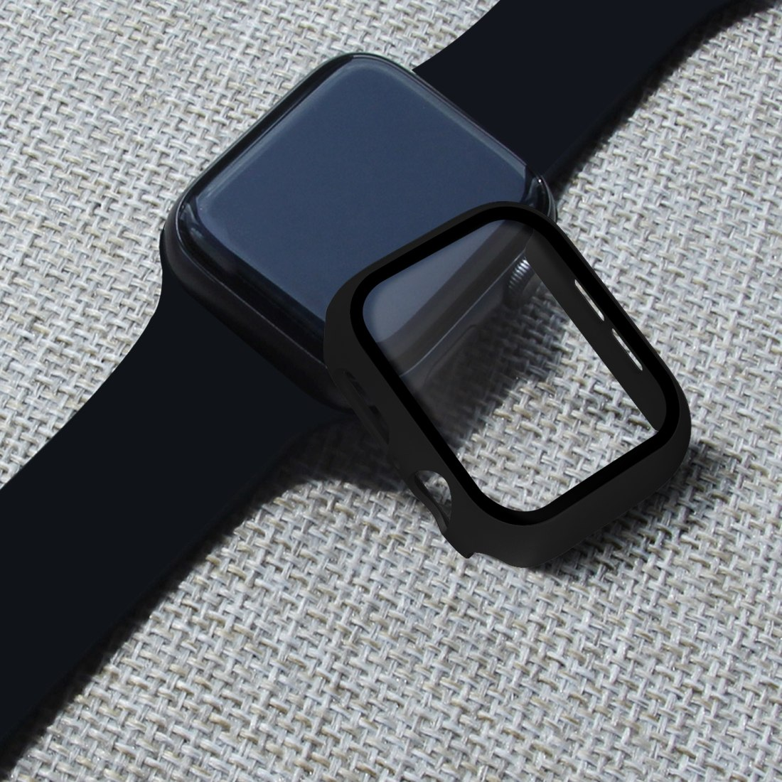 Enkay Displayskydd med Ram för Apple Watch serie 5 / 4 40mm - Av härdat glas
