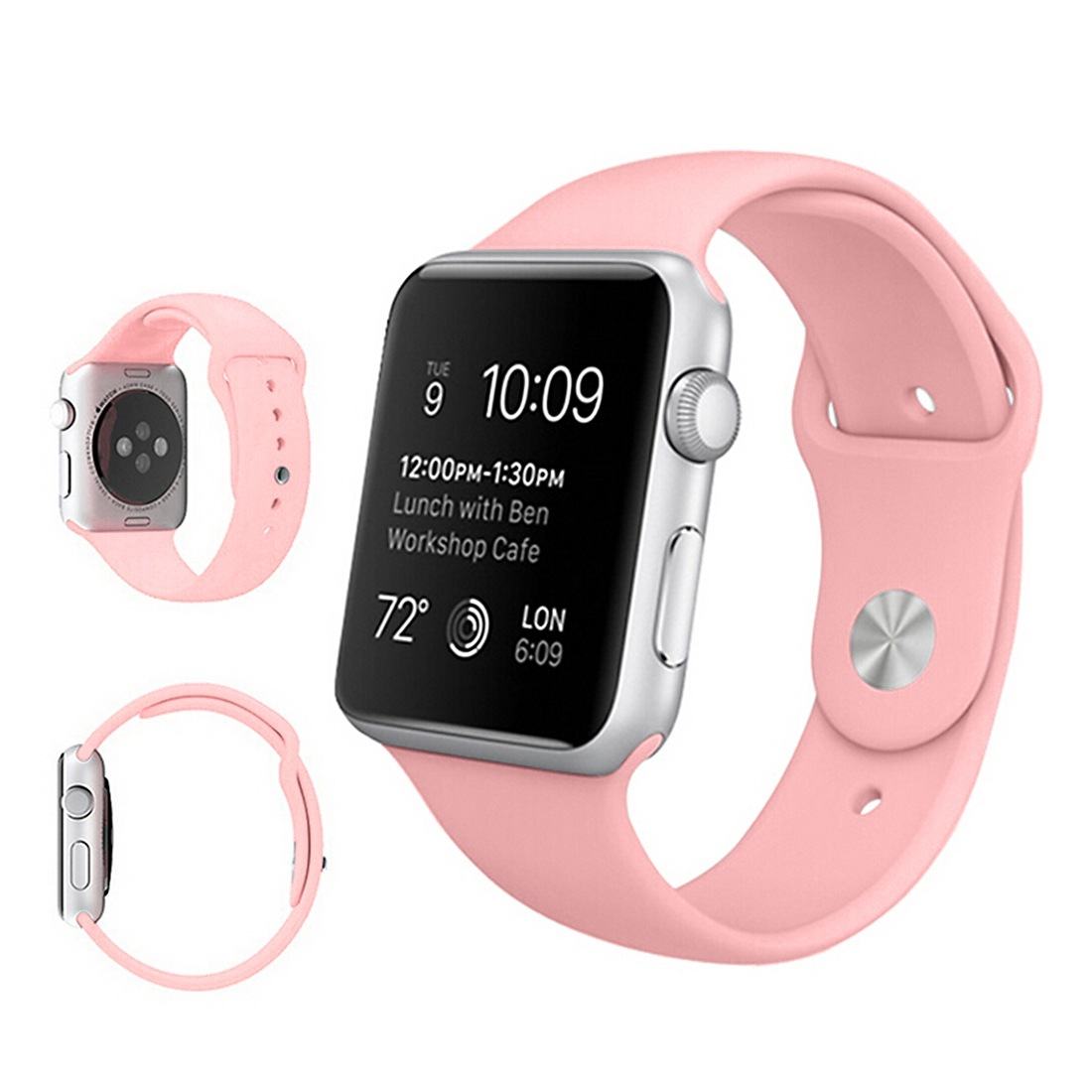 Armband för Apple Watch 42mm - Gummi