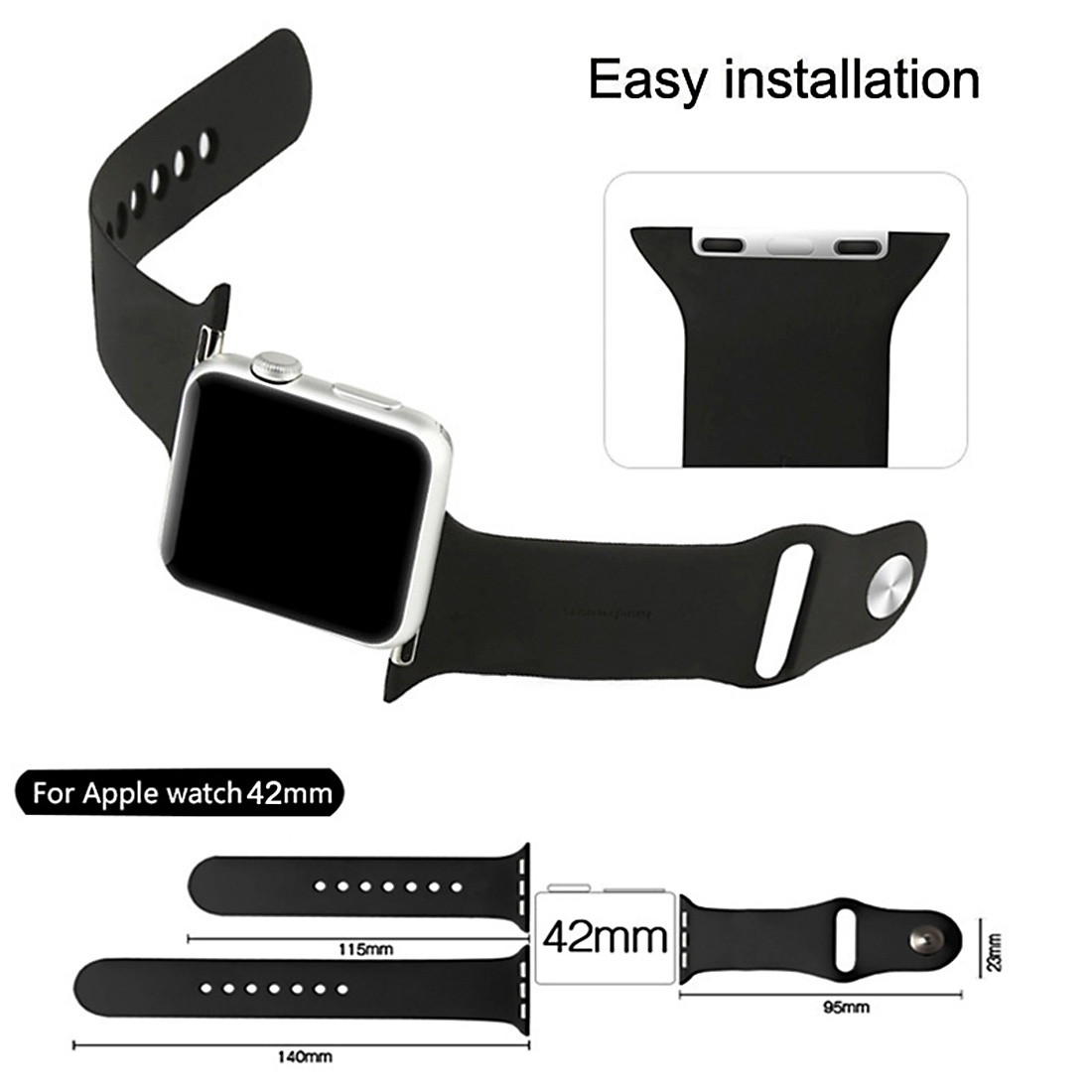 Armband för Apple Watch 38mm - Gummi
