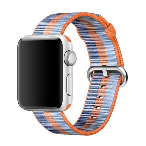 Armband för Apple Watch 38mm - Randig vävd nylon