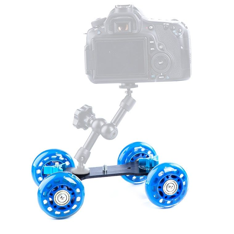 DEBO First Generation Dolly Car för DSLR / Videokamera (Blå)