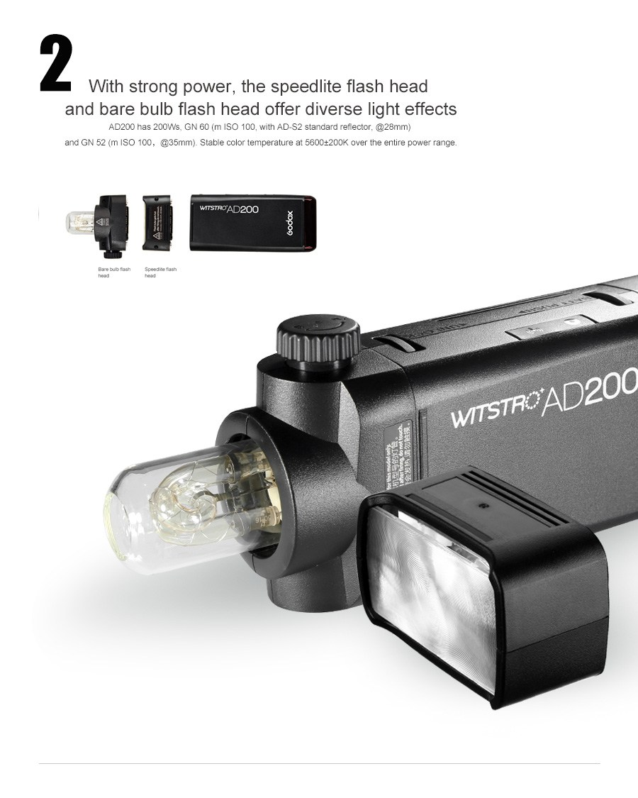 Godox AD200 TTL Pocketblixt-kit